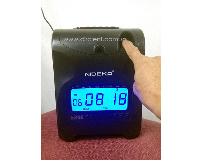 NU-82 Time Clock + fingerscan